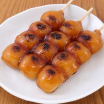 Rice dumplings in a sweet soy sauce