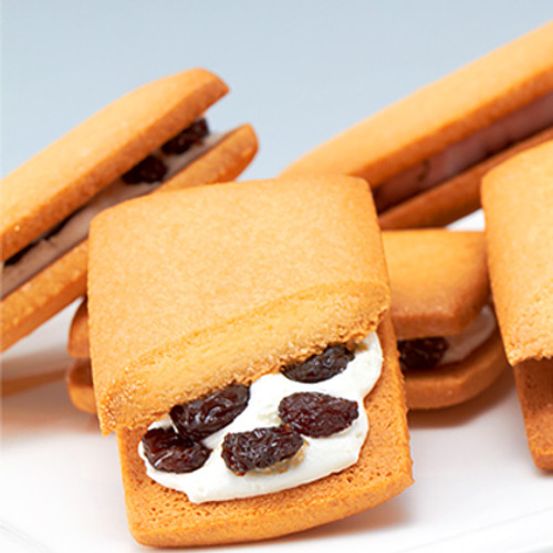 Raisin butter sandwich cookie